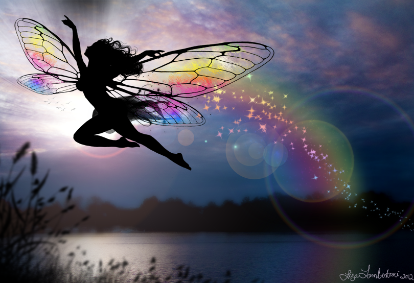 Faery of the Rainbows - by Liza Lambertini