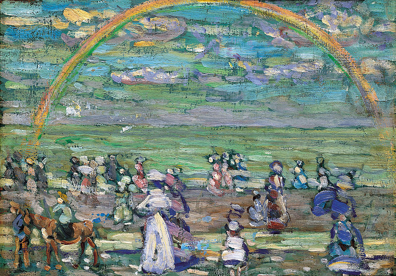 Rainbow, painted 1905, by Maurice Prendergast