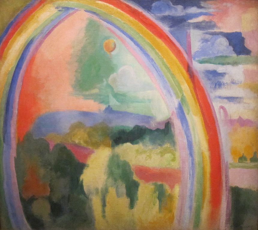 The Rainbow, painted 1913, by Robert Delaunay