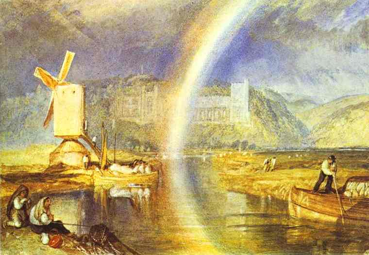Arundel Castle, with Rainbow, painted c. 1824, by William Turner