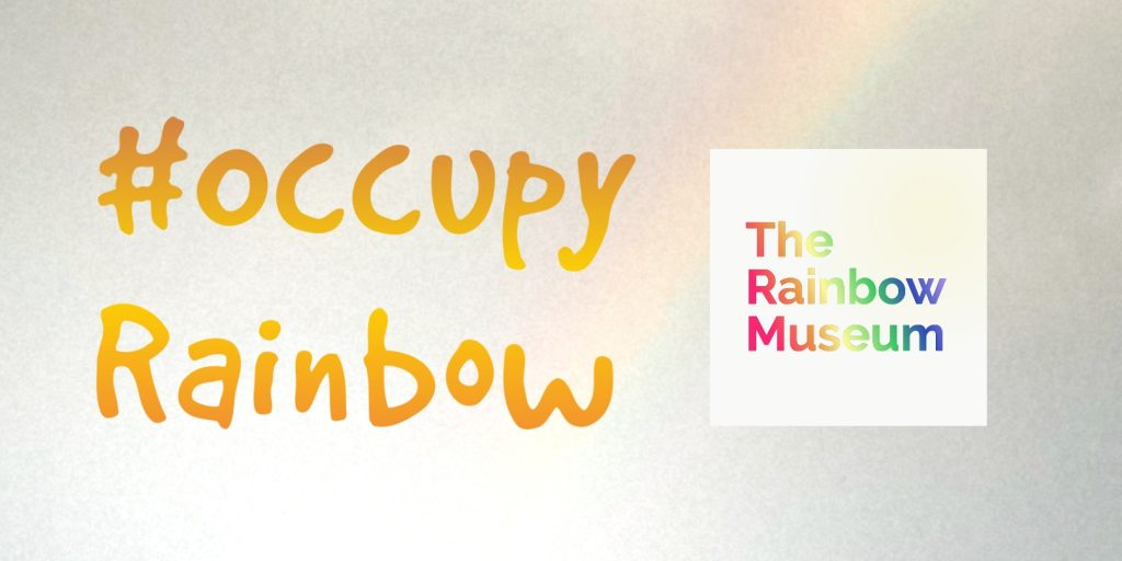 Occupy Rainbow banner 2020